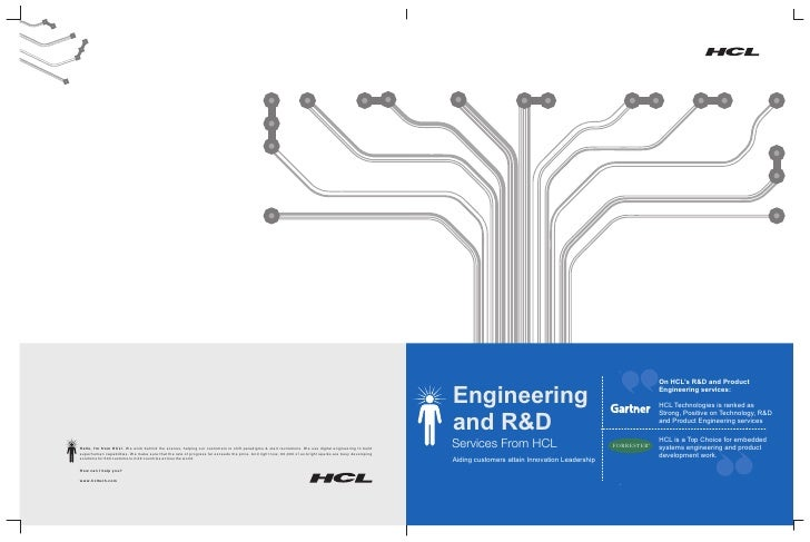 On HCL's R&D and Product  Engineering                                                 Engineering services:               ...