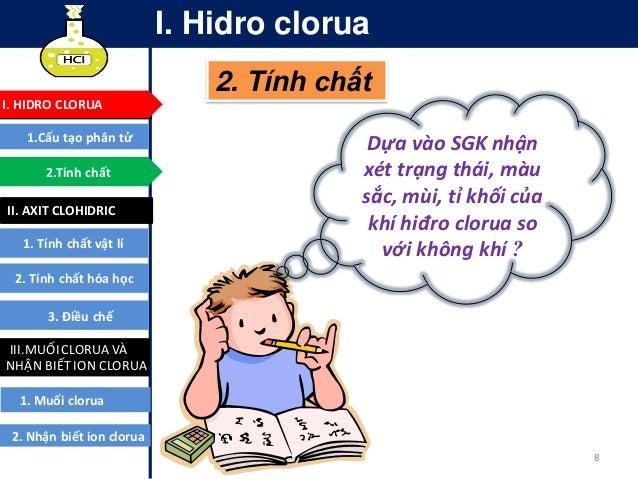 Tính Chất; 8. 9 I. Hidro Clorua ...