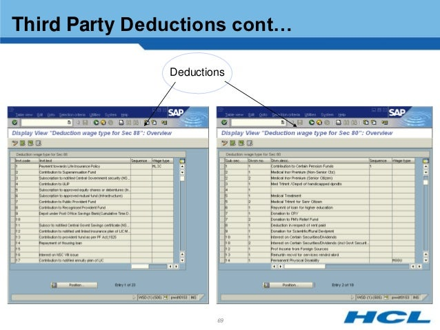 Hcl indian payroll3 69 third party deductions sciox Choice Image