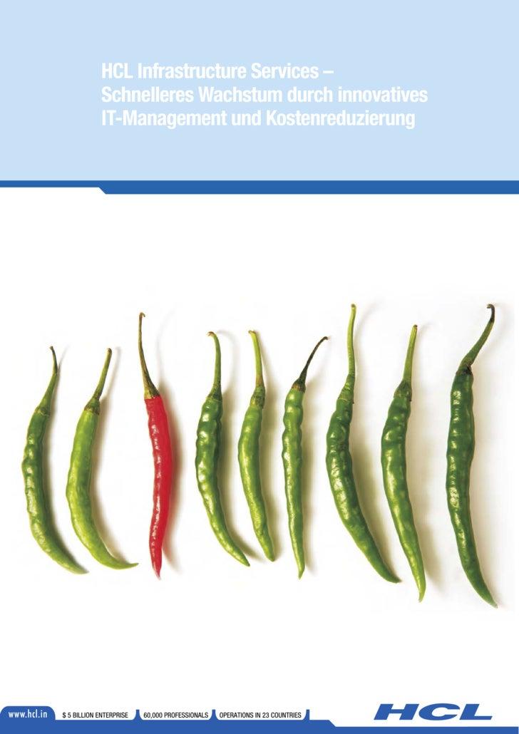 HCL Infrastructure Services – Schnelleres Wachstum durch innovatives IT-Management und Kostenreduzierung