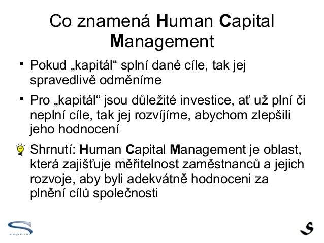 Co to je - Human Capital Management - cesky