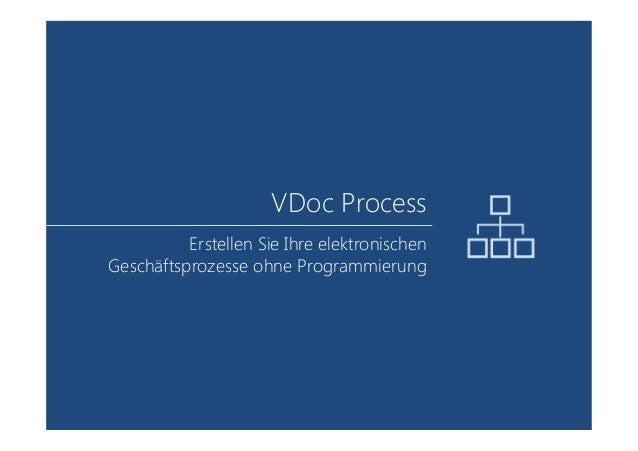 VDoc Process Erstellen Sie Ihre elektronischen Geschäftsprozesse ohne Programmierung