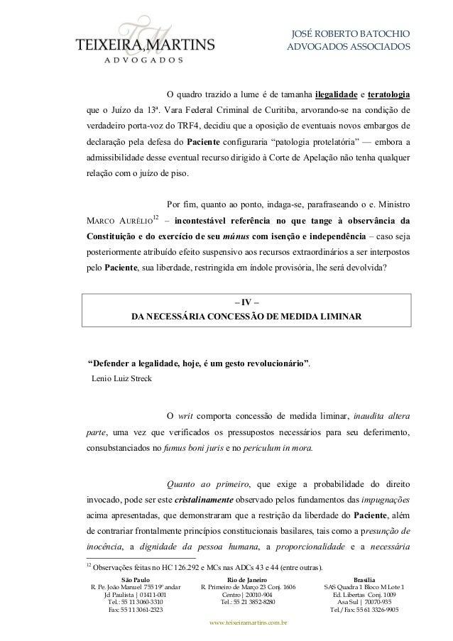 pedido de habeas corpus da defesa de lula3326 Artigo 7 Da Constituicao Federal Comentado #5