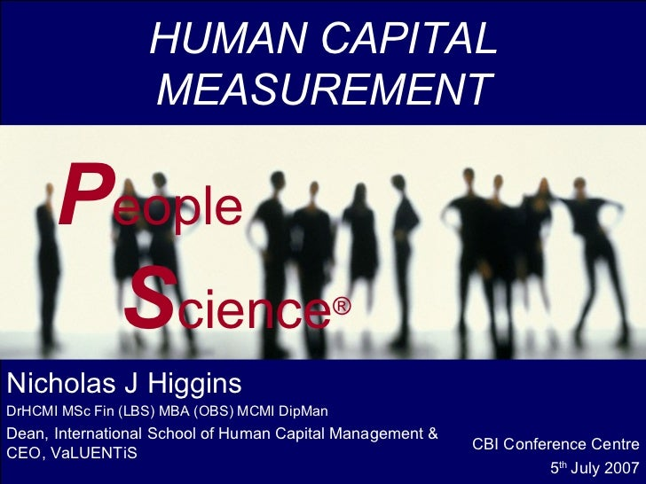 HUMAN CAPITAL                  MEASUREMENT      People       Science   GHCRS2006                                          ...