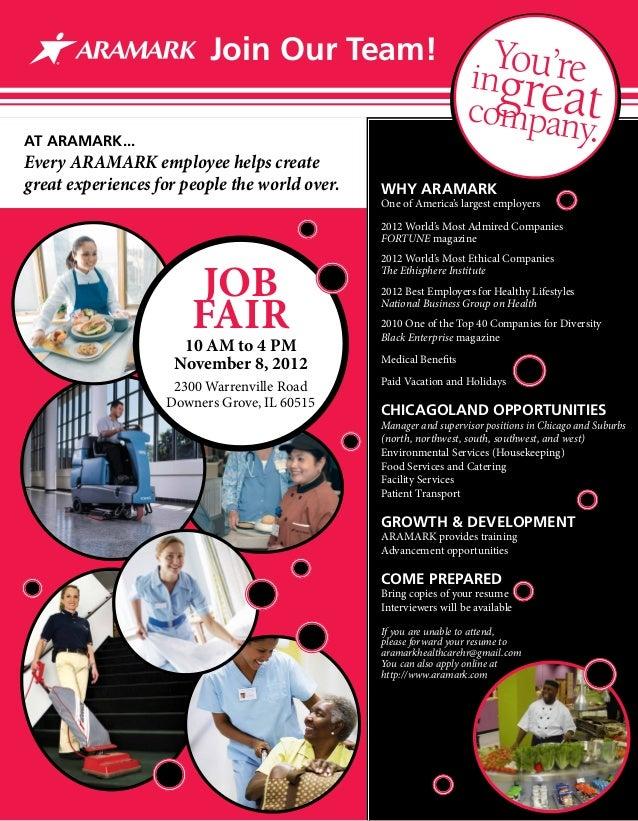 ARAMARK Healthcare Midwest Career Fair