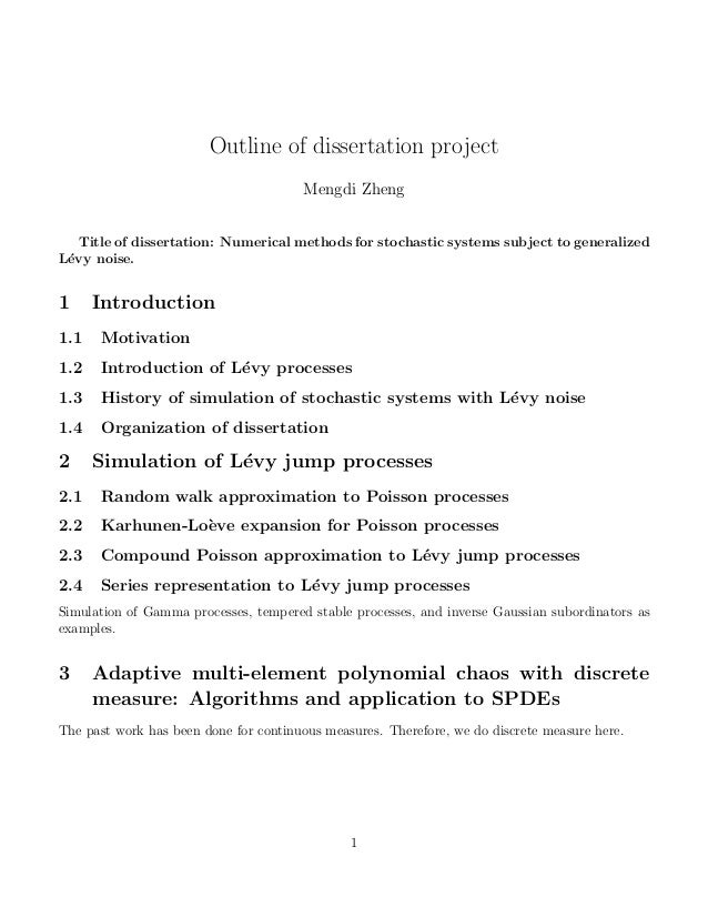 Thesis only phd chapter outline