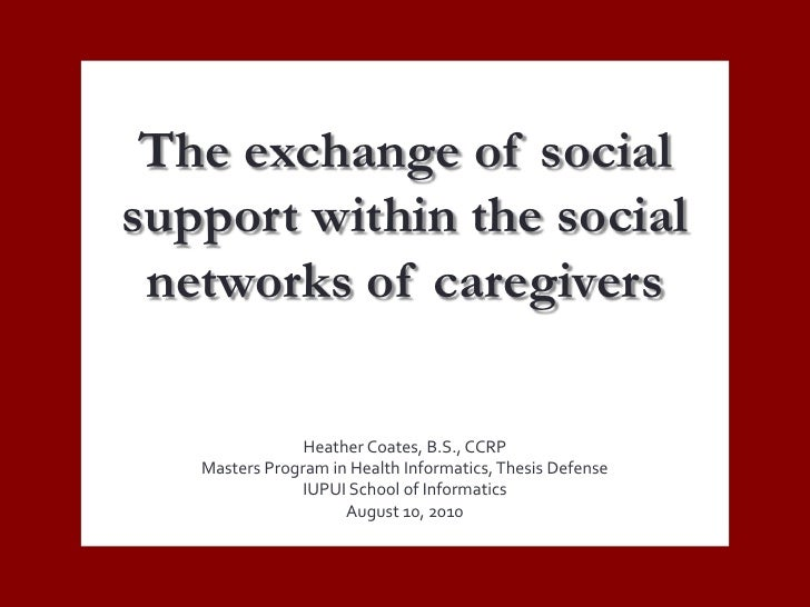 The exchange of social support via social networks of maternal caregivers for children with Autism Spectrum Disorders (ASD)