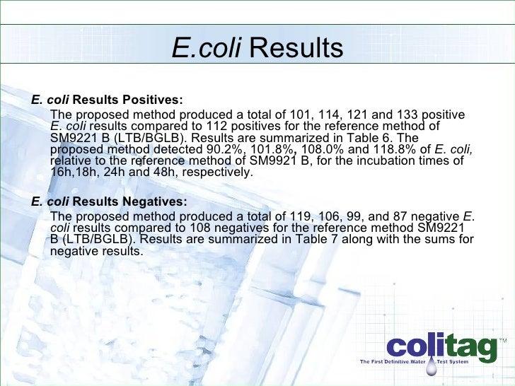 EPA ATP Study Presentation - Colitag 16 - 48 Hour