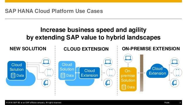Overview of SAP HANA Cloud Platform