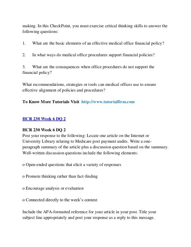 flow chart week 7 hcr 230 Posts about classified according to the categories in the text hcr 230 week 7 assignment – understanding the collection process assignment: understanding the collection process you are working in a medical offic written by willpower060.