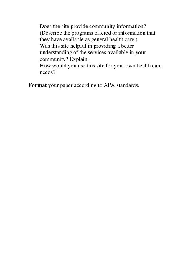 HCS 235 Health Care Interview Paper