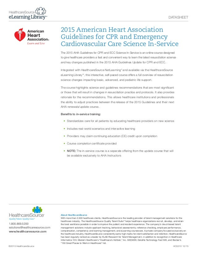 2015 american heart association guidelines for cpr and emergency card rh slideshare net American Heart Association CPR 2018 cpr guidelines for healthcare providers