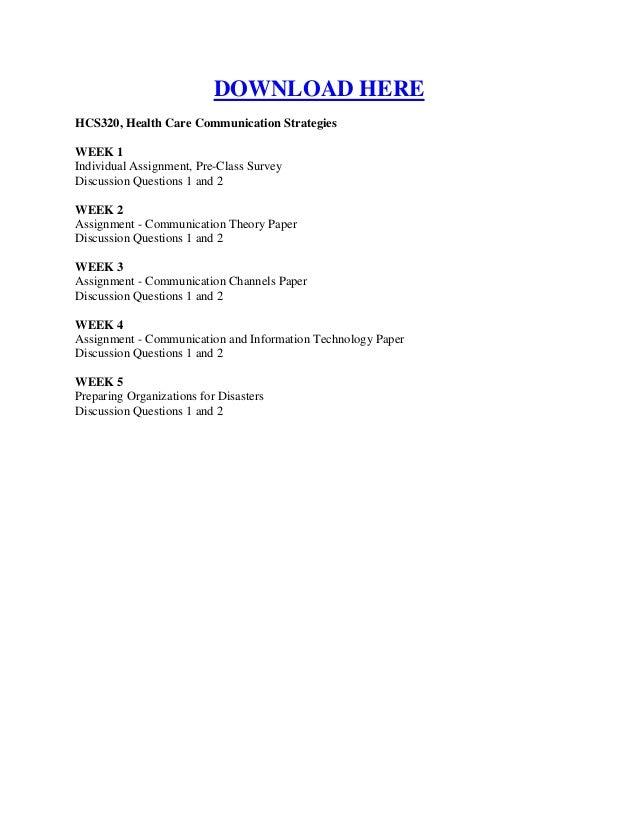 Hcs 320 health care communication strategies