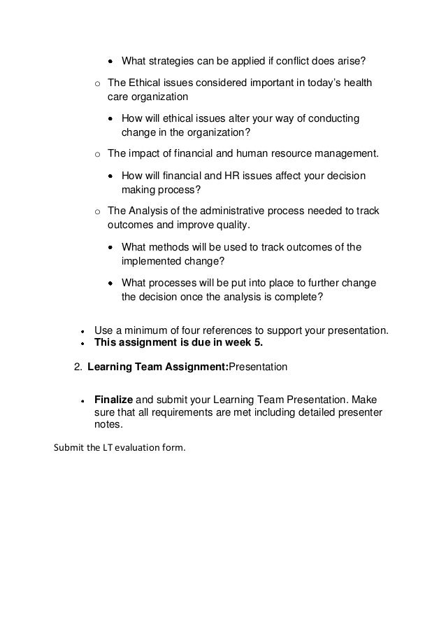 learning team organizational structure presentation communication methods 1 learning team instructions:organizational structure presentation • you are a manager of a large rehabilitation center that provides short-term care rehabili.