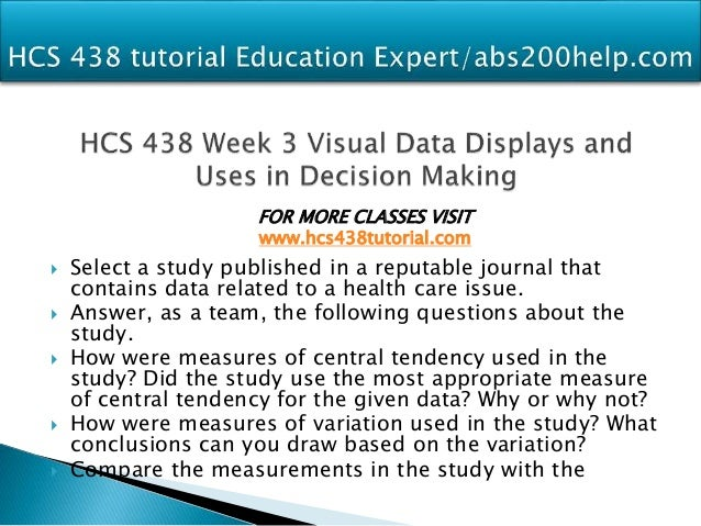 analysis of data reports in published journal articles hcs 438 Select a study published in a reputable journal that contains data related to a health care issue answer, as a team, the following questions about the study hcs 438 potential instructors  hcs 438 week 5 quiz (uop) hcs 438 week 5 analysis of data reports in published journal (uop) hcs 438 week 5 quiz please add own.