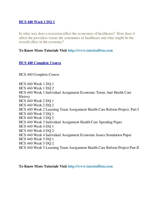 hcs 440 week 1 economic terms Order details/description hcs 440 week 1 individual economic terms and health care history resource: grading criteria: economic terms and health care history on the.