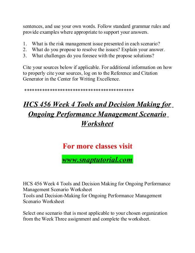 Hcs 456 Believe Possibilities / snaptutorial com