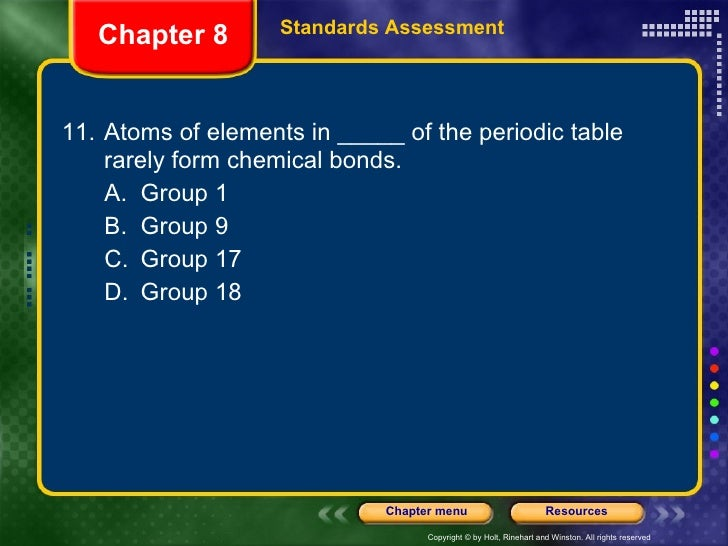 Physical Science Chapter 8