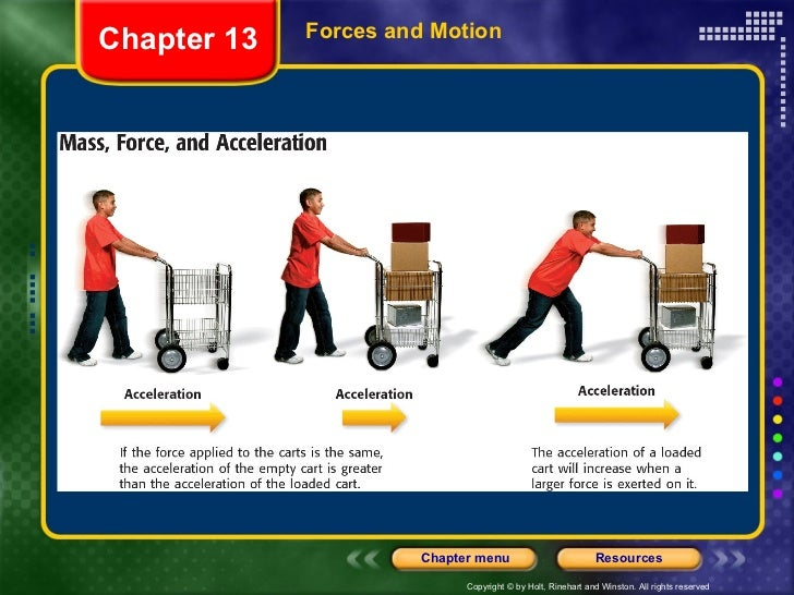 Forces and Motion Chapter 13