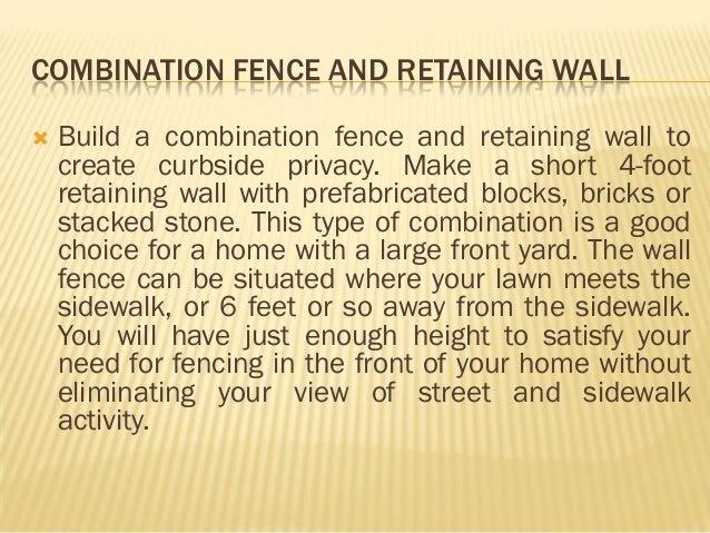 Hcse provide ideas for retaining walls