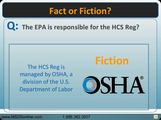 OSHA HCS Fact or Fiction Game, 29 CFR 1910