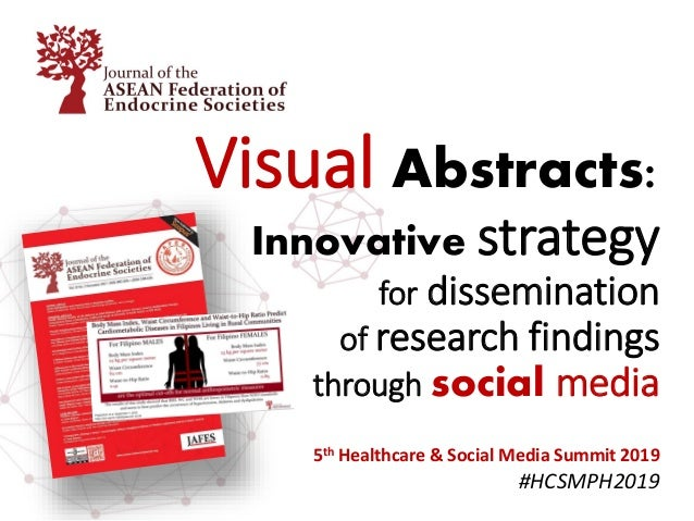 Visual Abstracts: Innovative strategy for dissemination of research findings through social media 5th Healthcare & Social ...