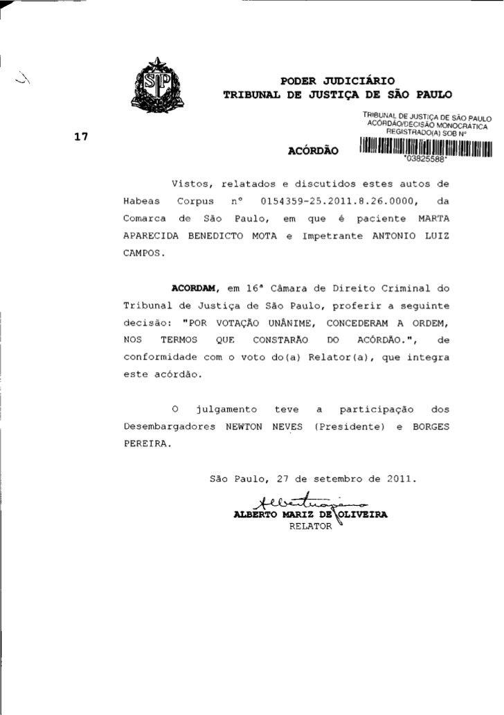 PODER JUDICIÁRIO                           TRIBUNAL DE JUSTIÇA DE SÃO PAULO                                               ...