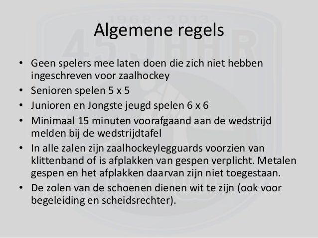 zaalhockey regels