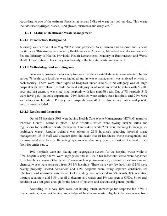 Health Care Waste Management in Pakistan Slide 3