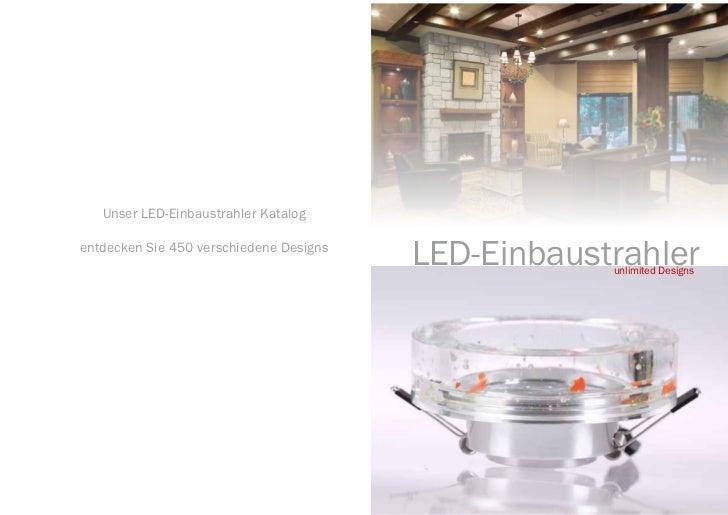 Deckblatt   Unser LED-Einbaustrahler Katalogentdecken Sie 450 verschiedene Designs                                        ...