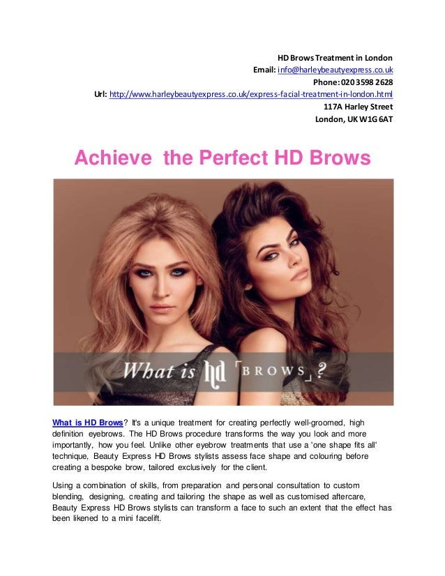 Hd Brows Treatment In London Beauty Express