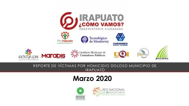 Marzo 2020 REPORTE DE V�CTIMAS POR HOMICIDIO DOLOSO MUNICIPIO DE IRAPUATO