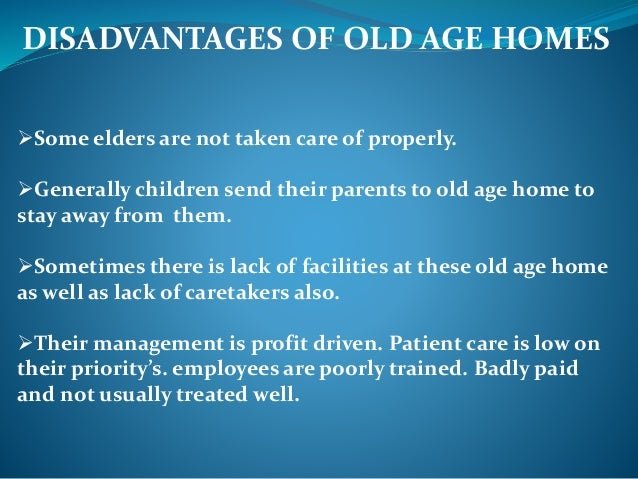 Old age and support system - Disadvantages of modular homes ...