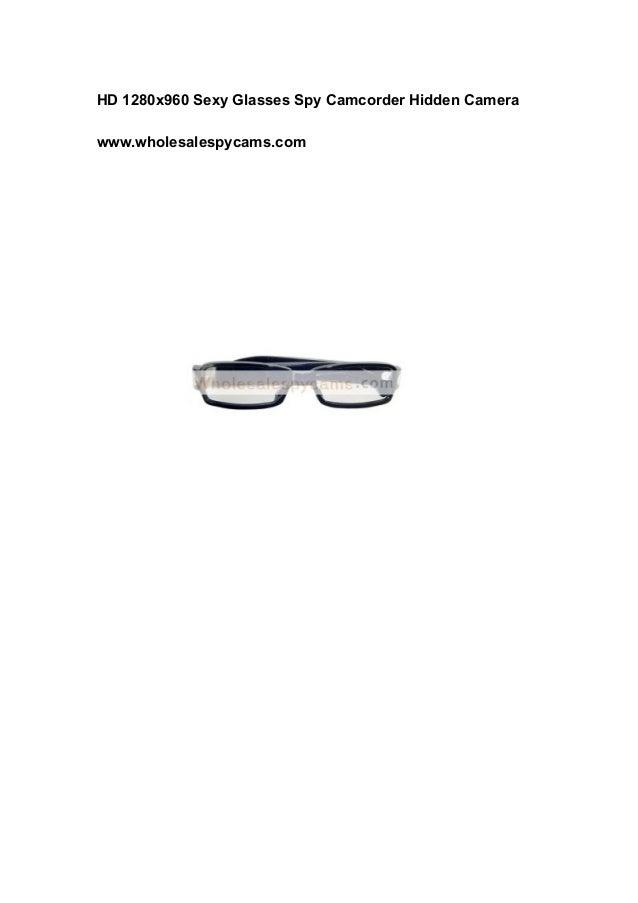 HD 1280x960 Sexy Glasses Spy Camcorder Hidden Camera www.wholesalespycams.com
