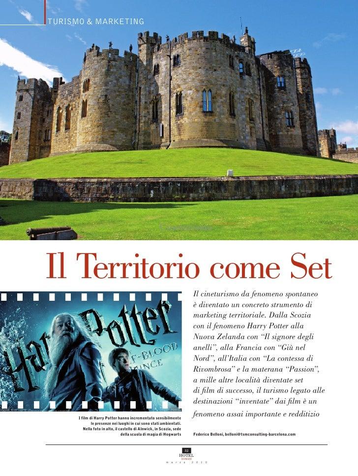 TURISMO & MARKETING                                                           Cineturismo    Il Territorio come Set       ...