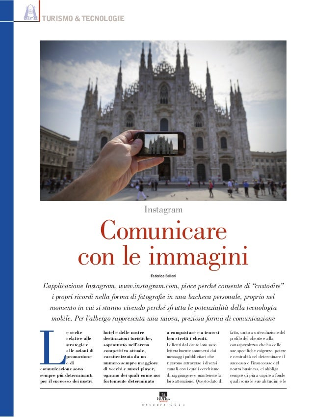 TURISMO & TECNOLOGIE  Instagram  Comunicare con le immagini Federico Belloni  L'applicazione Instagram, www.instagram.com,...
