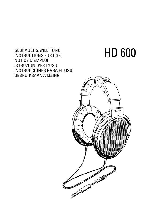 Sennheiser HD 600 Full Size Open Headphone