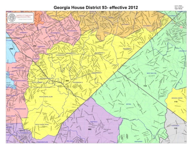 cum Stale  Georgia House District 93- effective 2012 : ;;: .:: ;:: **  'L ; '              ' 2 toswinswa                  ...