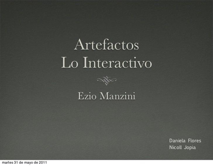Artefactos                            Lo Interactivo                              Ezio Manzini                            ...