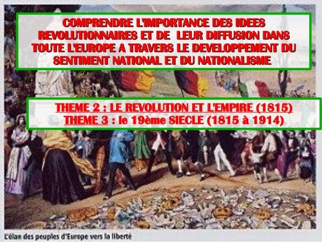 COMPRENDRE L'IMPORTANCE DES IDEESCOMPRENDRE L'IMPORTANCE DES IDEES REVOLUTIONNAIRES ET DE LEUR DIFFUSION DANSREVOLUTIONNAI...