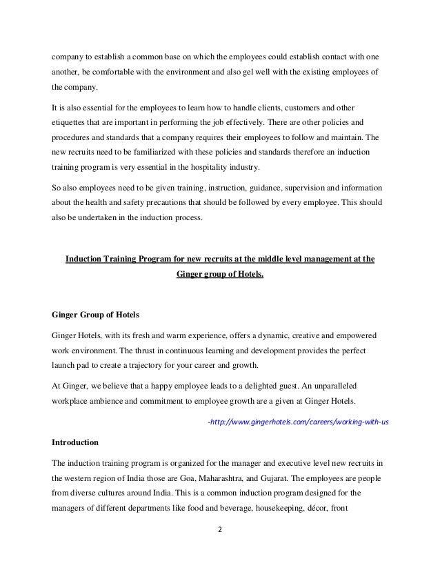 Induction Training Program – Orientation Feedback Form