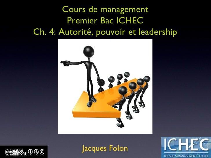 ICHEC BAC 1 INTRODUCTION AU MANAGEMENT CH. 3