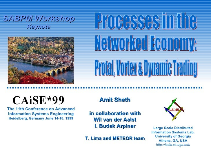 The 11th Conference on Advanced Information Systems Engineering Heidelberg, Germany June 14-18, 1999 Processes in the Netw...