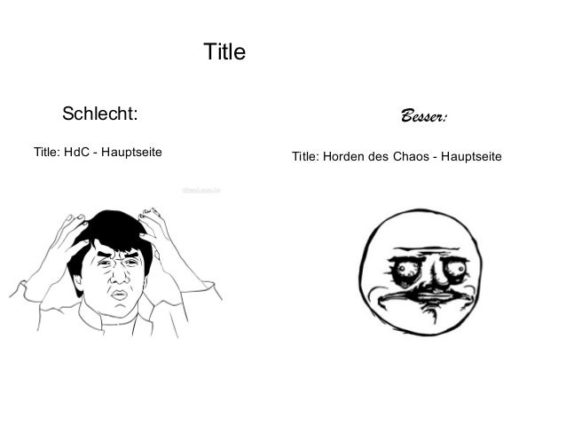 Title: HdC - Hauptseite Schlecht: Besser: Title: Horden des Chaos - Hauptseite Title
