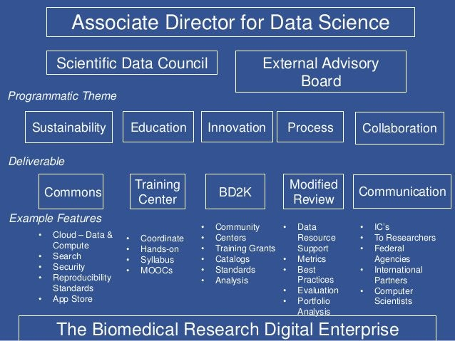 Associate Director for Data Science Commons Training Center BD2K Modified Review Sustainability Education Innovation Proce...