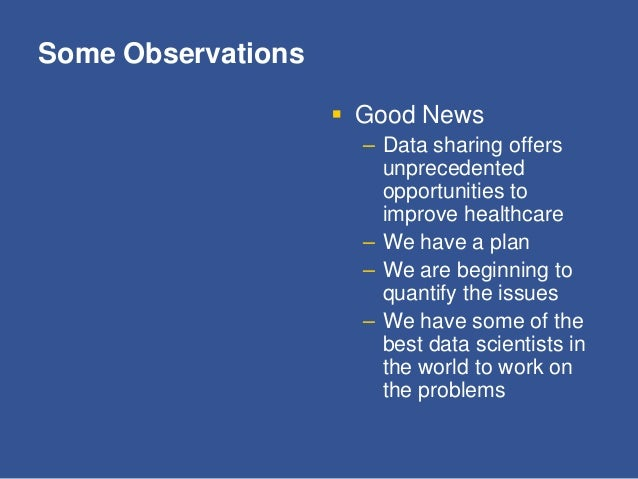 Some Observations  Bad News – Sustainability will not be possible without change – OSTP have defined the why but not the ...
