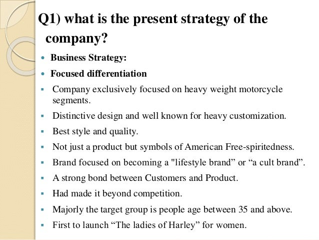 harley davidson strategic management