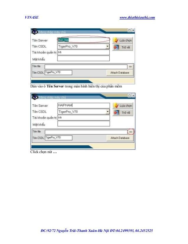 VINASE  www.thietbisieuthi.com  Dán vào ô Tên Server trong màn hình hiển thị của phần mềm  Click chọn nút …  ĐC:92/72 Nguy...