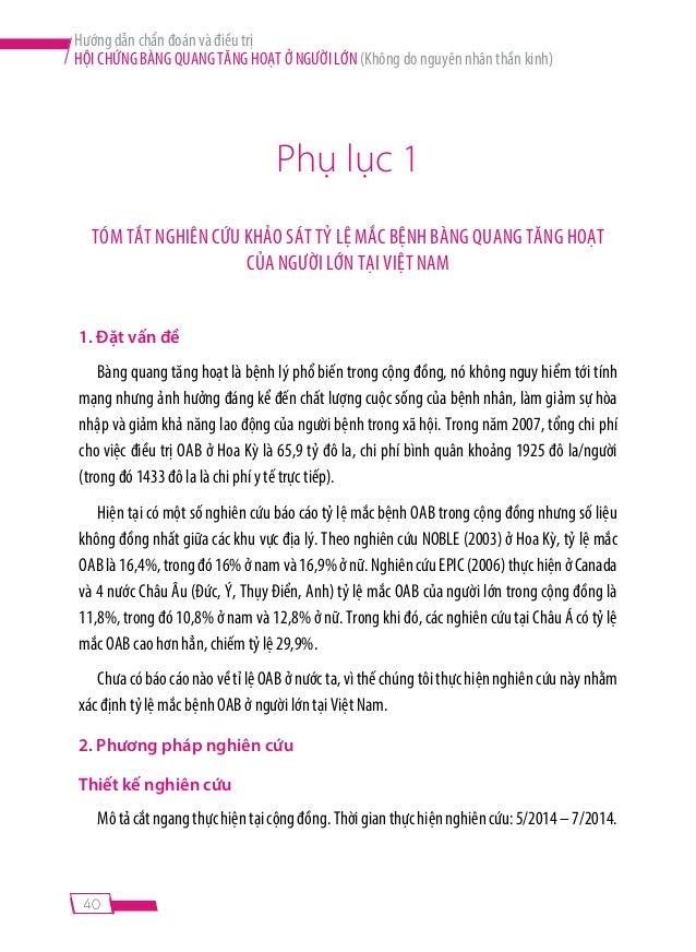 39  Hình 4: Phác đồ chẩn đoán và điều trị bàng quang tăng hoạt ở người lớn  (không do nguyên nhân thần kinh) [21]