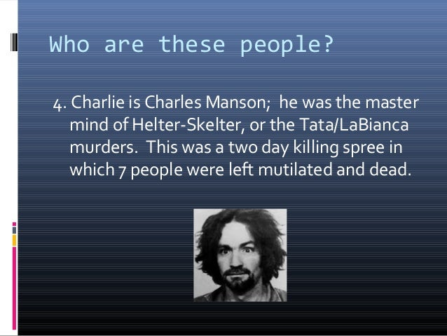 the early childhood and influences of charles manson Manson has lied about everything in his childhood, every opportunity that he's had, and no one's ever really challenged him on it, though the record was there if every line he used, almost word for word, comes from a dale carnegie textbook in a class, how to win friends and influence people [1936].